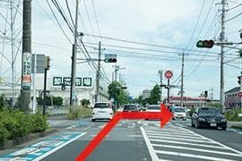 さくら都市 千葉支店 交通案内(蘇我ICより)3.6つめの信号、おゆみ野南2丁目を右折